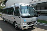 Toyota Coaster Saloon 29 Seater for rent in islamabad